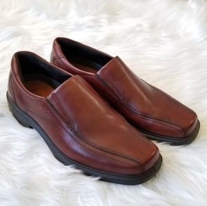 Ecco men's leather slip on dress shoes size 11